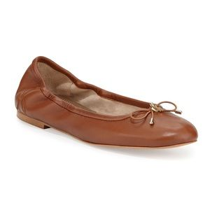 Steve Madden Felicia Leather Bow Ballet Flats